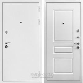 Входная металлическая дверь Ратибор Бланко 3К (Белая шагрень / Белый матовый)