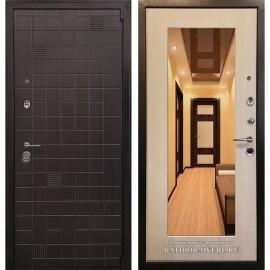 Входная дверь Ратибор Силуэт 3К с зеркалом (ЭкоВенге / Экодуб)