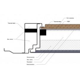 Входная дверь с терморазрывом Ратибор Термоблок 3К (Лиственница беж)
