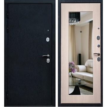 Входная дверь Ратибор Милан с зеркалом (Дуб выбеленный)