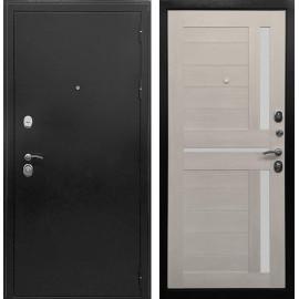 Входная дверь Ратибор Авангард 3К (Антик темное Серебро / Лиственница беж)