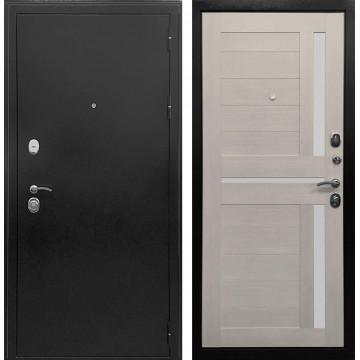 Входная металлическая дверь Ратибор Авангард 3К (Антик темное Серебро / Лиственница беж)