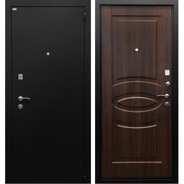 Входная металлическая дверь Ратибор Классик 3К (Черное Серебро / Орех бренди)
