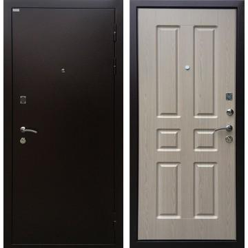 Входная металлическая дверь Ратибор Комфорт (Медный антик / Дуб беленый)