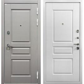 Входная дверь Ратибор Лондон 3К (Грей софт / Белый матовый)