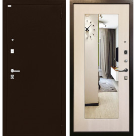 Входная дверь Ратибор Люкс с зеркалом (Экодуб)