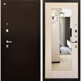 Входная дверь Ратибор Люкс с Зеркалом (Медный антик / Экодуб)