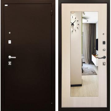 Входная металлическая дверь Ратибор Люкс с Зеркалом (Медный антик / Экодуб)
