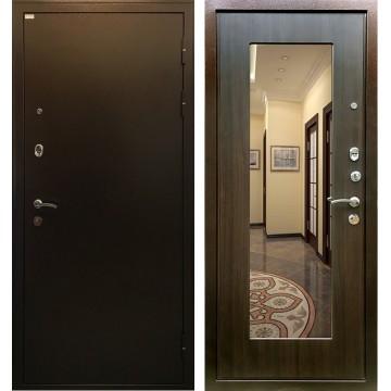 Входная металлическая дверь Ратибор Милан с Зеркалом (Медный антик / ЭкоВенге)