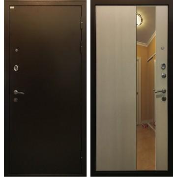 Входная металлическая дверь Ратибор Милан с зеркалом (Лиственница беж)