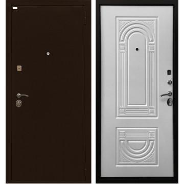 Входная металлическая дверь Ратибор Оптима 3К (Белый матовый)