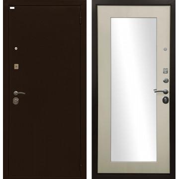 Входная металлическая дверь Ратибор Оптима 3К с зеркалом (Лиственница беж)