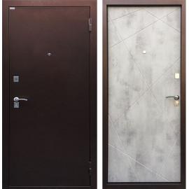 Входная дверь Ратибор Рубеж (Антик медь / Бетон светлый)