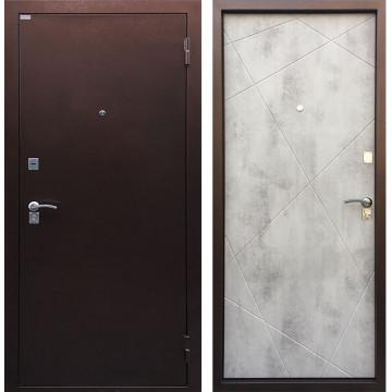 Входная металлическая дверь Ратибор Рубеж (Антик медь / Бетон светлый)
