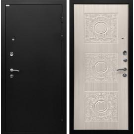 Входная дверь Ратибор Спарта (Чёрный шелк / Белый жемчуг)