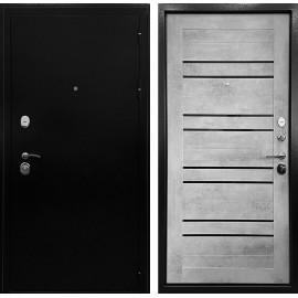 Входная дверь Ратибор Стандарт 3К СБ-29 (Черное серебро / Бетон светлый)