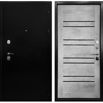 Входная металлическая дверь Ратибор Стандарт 3К СБ-29 (Черное серебро / Бетон светлый)