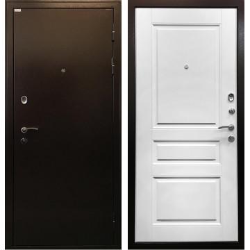 Входная металлическая дверь Ратибор Статус (Медный антик / Ясень белый)