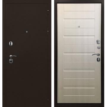 Входная металлическая дверь Ратибор Тренд 3К (Медный антик / Лиственница беж)