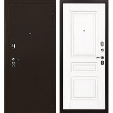 Входная металлическая дверь Ратибор Троя 3К (Медный антик / Белый матовый)