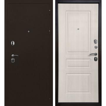 Входная металлическая дверь Ратибор Троя 3К (Медный антик / Лиственница беж)