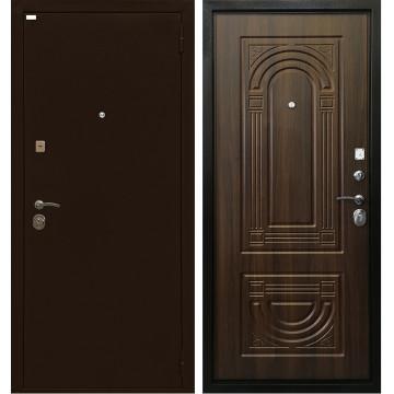 Входная металлическая дверь Ратибор Оптима 3К (Медный антик / Орех бренди)